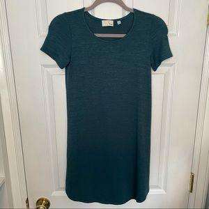 Aritzia Wilfred Free Teal T Shirt Mini Dress XXS